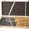 Набор токарных резцов JET, HSS 6 шт. с длинной рукояткой из ясеня в деревянной коробке